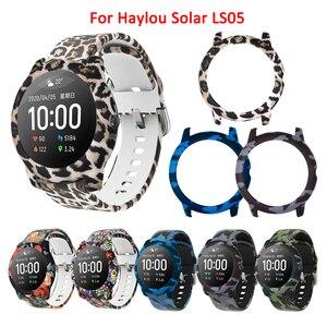 Para Haylou Solar LS05 accesorios 2 en 1 para Haylou LS05 correa de reloj pulsera + funda protectora marco Protector parachoques