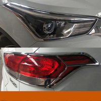 ABS Chrome Front Head Light Lamp Cover Trims Headlight Headlamp Frame Protector 2Pcs For Hyundai Creta IX25 2015 2017