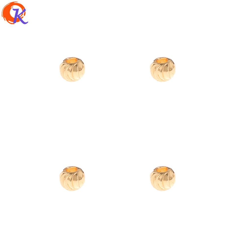 Cordial Design 500Pcs 3*3MM DIY Making/Jewelry Accessories/Genuine Gold Plating/Bead Shape/Jewelry Findings Component/Hand Made