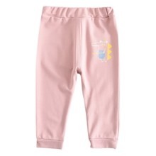 1-7Y 4 Colors Baby Leggings Autumn Girls Pants Children Stretchy Trousers Cartoon Animal Pattern Bottoms