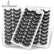 SEXYSHEEP 5-10 Pairs 3d Mink Lashes Bulk Faux Thick Long Wispy Natural Mink Lashes Pack Short Wholesales Natural False Eyelashes