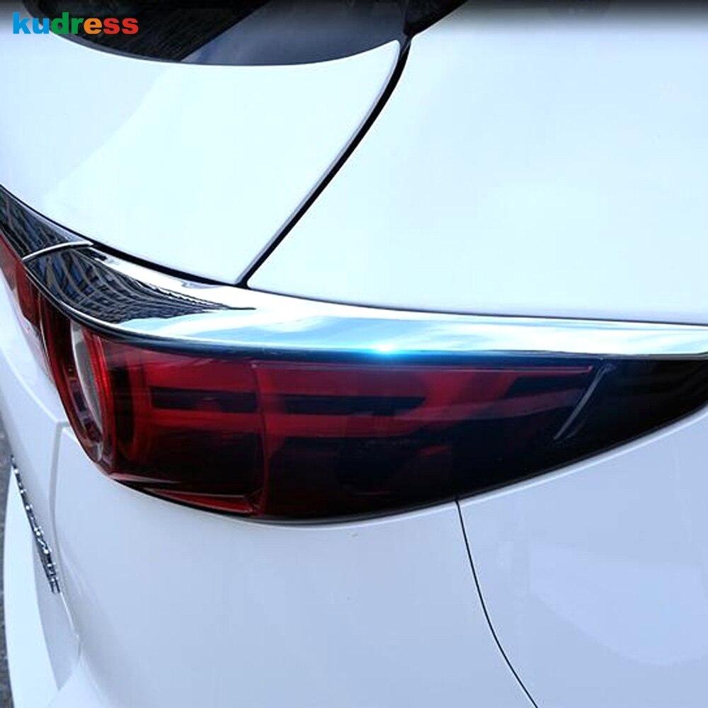 For Mazda CX-5 KF 2017-2019 Chrome Fog Light Lamp Cover Molding Accessories