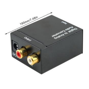 Cyfrowy Audio analogowe Audio R L konwerter Audio cyfrowe Spdif z włókna koncentryczne Audio przetwornik cyfrowo-analogowy tanie i dobre opinie Fanxoo 500 w Audio Converter No system requirements No resolution required black