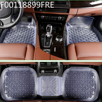 FR00011FR universal 64*47cm non-slip car floor mats car mats car floor mat Transparent black 5pcs/set free shipping
