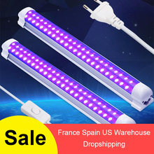 32cm Black Light Bar Stage Light 10W T8 Integrated Bulb UV LED Black Lights Portable Party Club DJ Equipment With Switch