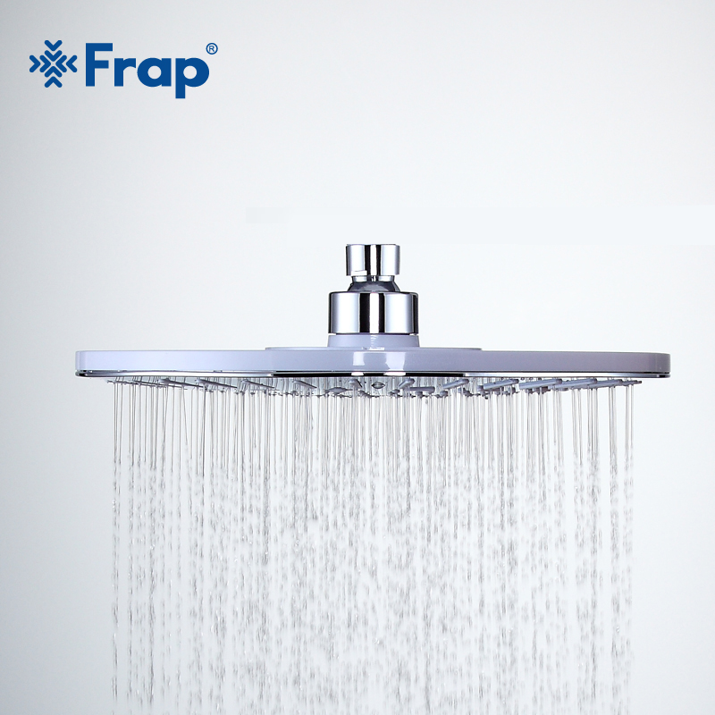 FRAP New Arrival 245mm Bathroom Round ABS shower head top water saving Overhead rain shower F008-25