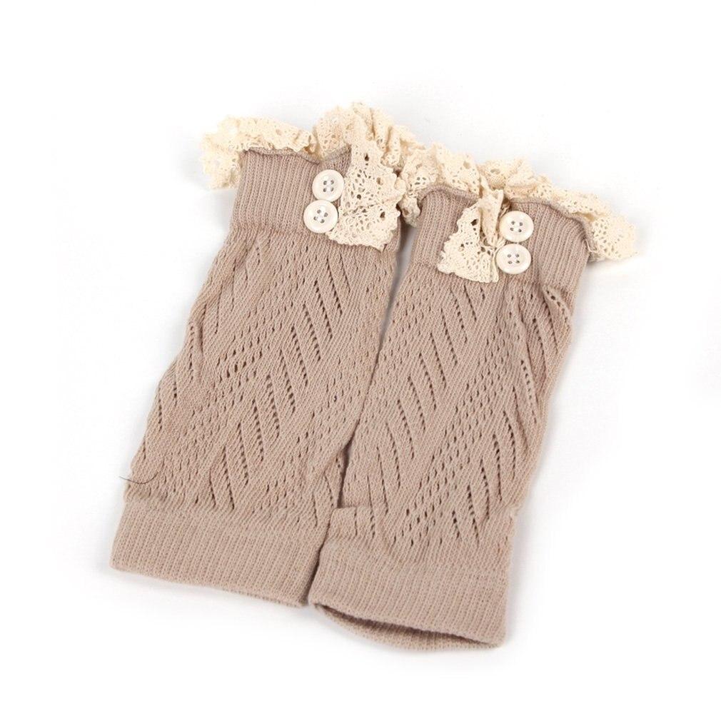 В европейском и американском стиле; модная удобная детская одежда для маленьких девочек вязаные крючком ботинки на шнуровке Теплые гетры; нарукавники гетры для малышей - Цвет: khaki