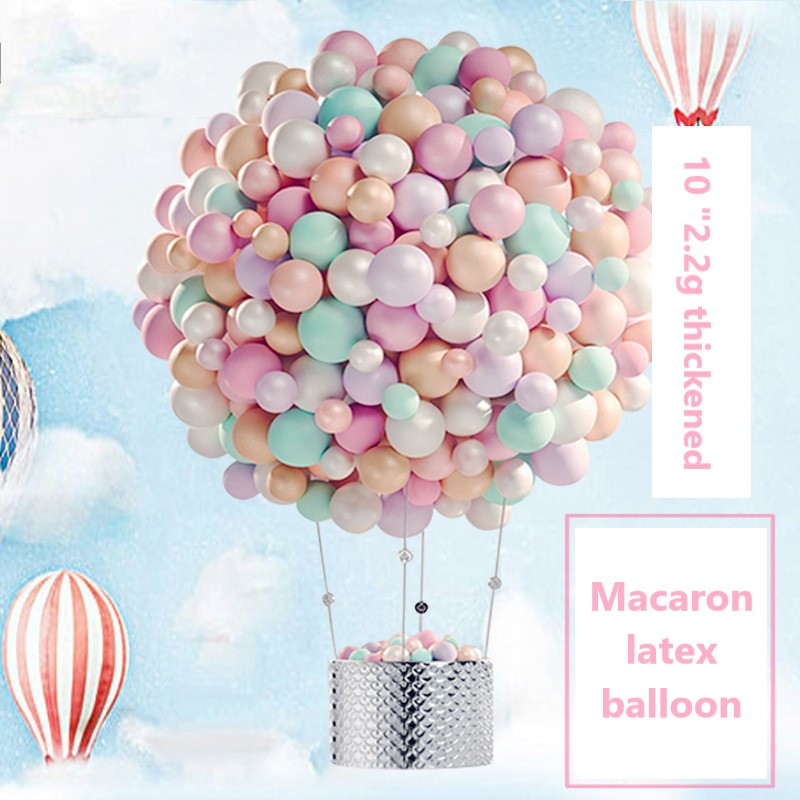 100pcs/set 10inch Balloons Thickened 2.2g Birthday Balloons Party Decoration Wedding Decoration Candy Balloons Macarone Balloons