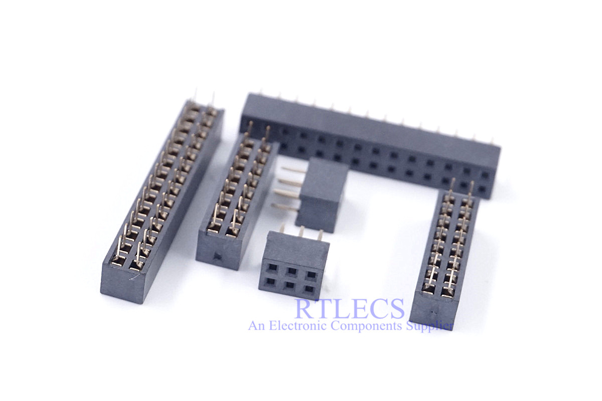 10pcs 2.00 mm PCB Female Header Pin Strip 4 6 8 10 12 14 16 20 22 24 26 <font><b>30</b></font> <font><b>32</b></font> 34 <font><b>36</b></font> <font><b>40</b></font> 60 80 Pin 2 Rows DIP Through Hole Solder image