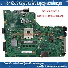 X75VB REV: 2,0 Материнская плата Asus A75A X75A X75VB Материнская плата ноутбука HM70 SLJNV только Поддержка intel серии B процессор 4 Гб встроенной Оперативная па...