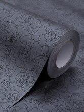 Nuelife czarny z kwiatami róży wzór samoprzylepne kryształki naklejki cieniowanie anti-peeping krem przeciwsłoneczny nieprzezroczysty toaleta łazienka folia okienna