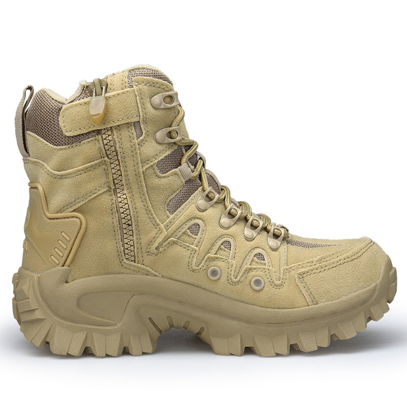 Men's Military Boot Combat Mens Ankle Boot Tactical Big Size 39-46 Army Boot Male Shoes Work Safety Shoes Motocycle Boots