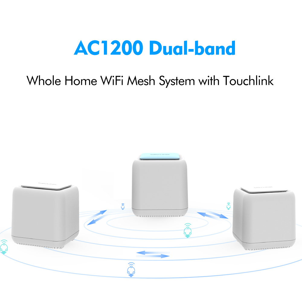 Routeur WIFI sans fil d'origine AC1200 Gigabit système intelligent de maille Wi-Fi à domicile double bande 2.4G/5Ghz répéteur wifi 1200mbps - 4
