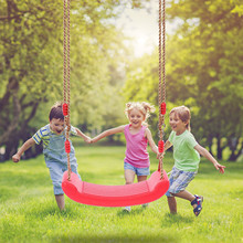 Plastic Child Swing Seat With Adjustable Rope Kids Tree Seat Outdoor Indoor Comfortable Swing For Children balancoire enfant cheap CN(Origin) In-Stock Items 5652 5-7 Years 8-11 Years 12-15 Years Grownups 6 years old 3 years old