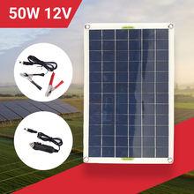 50 Вт 18В Панели солнечные Зарядное устройство Портативный складной