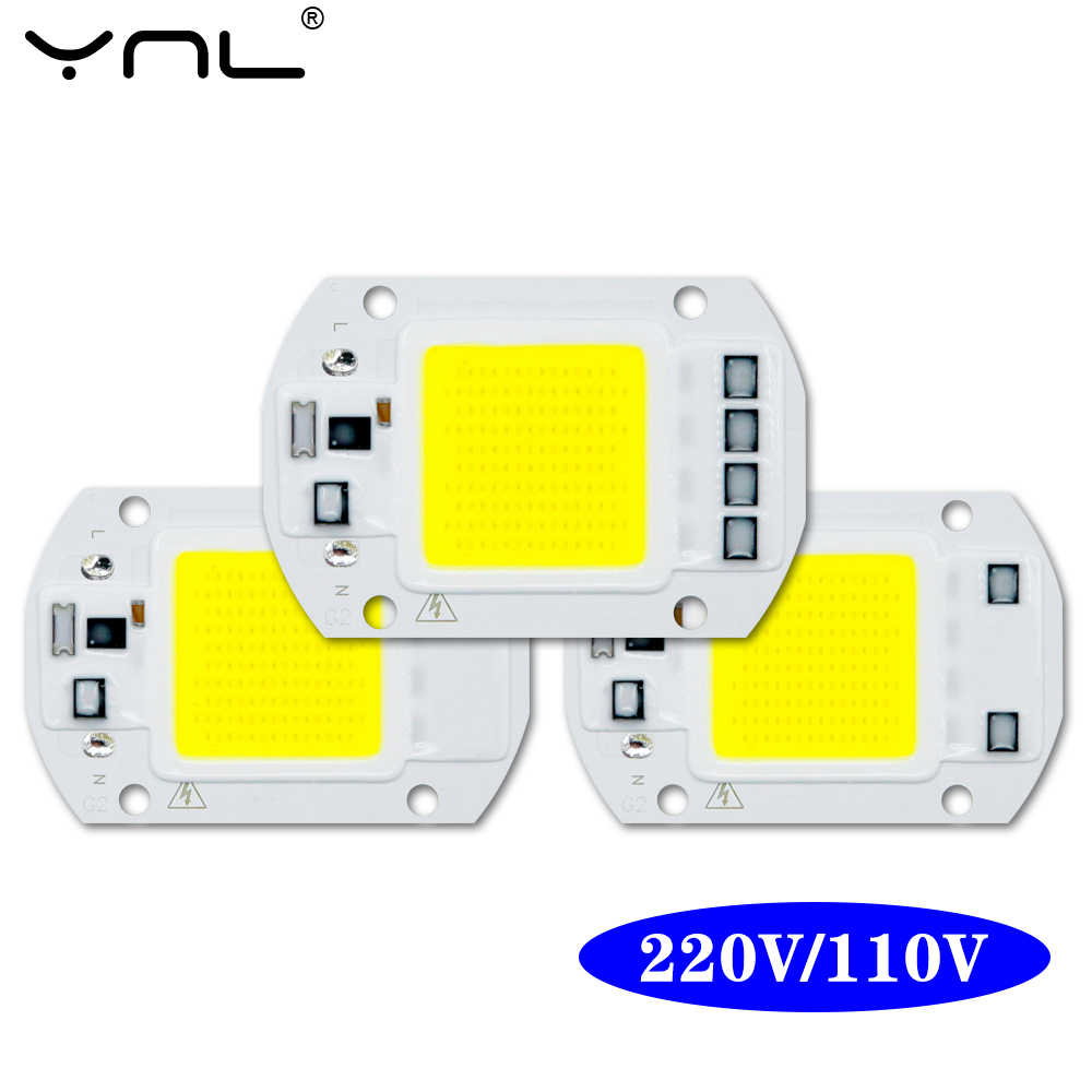 Lámpara LED COB AC 220V 110V 10W 20W 30W 50W Chip inteligente IC No necesita controlador LED bombilla lámpara de foco reflector Chip