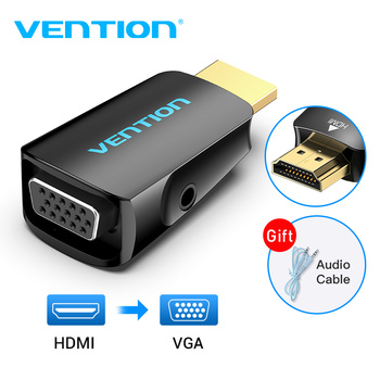 Adaptateur HDMI vers VGA adaptateur HDMI mâle vers VGA Felame HD 1080P convertisseur de câble Audio avec prise 3.5 pour PS4