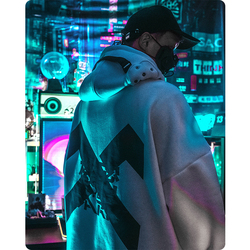 Men's clothes hoodie Functional wind astronaut Sweatshirt Discoloration loose hooded lovers Harajuku astronaut tops Street dress