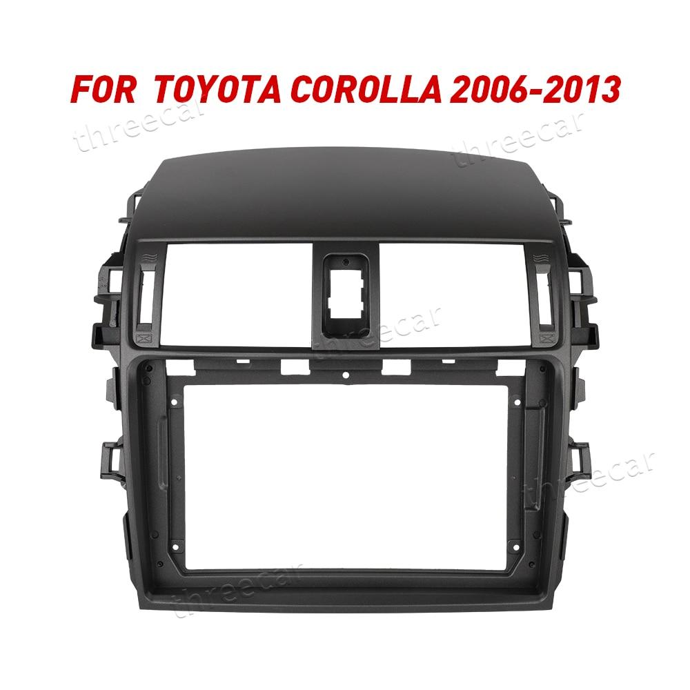 2Din Car Radio Fascia Frame Fit for 2006-2013 Toyota Corolla Android GPS Panel Dash Frame Kit Mounting Frame Trim Bezel Fascias(China)