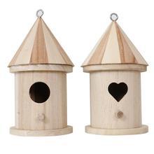 Crafts Bird-Feeder Home-Decoration Outdoors Nest Hanging for Garden -Cw DIY Kids