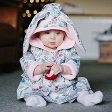 New Baby Girl Clothes Cute Cherry Printed Long Sleeve Hooded Sweatshirt