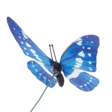 Colorful Fairy Butterfly On Stick Ornament Home Garden Vase Lawn Craft Decor 72XF