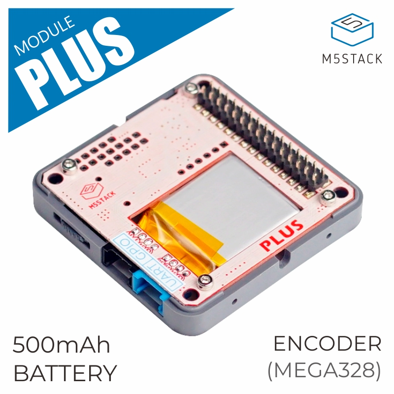M5Stack New Arrival PLUS Module Encoder Module With MEGA328P 500mAh Battery ISP IR Transmitter UART/GPIO Port Suit For ESP32 Kit