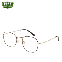 REAL Fashion Brand Designer Optical Glasses Men Women Glasses Frame Metal Myopic Glasses Prescription Glasses Student Glasses cheap Stainless Steel Unisex Eyewear Accessories Solid MT453 FRAMES Fashion Retro Wenzhou China Man woman unisex Classic Rectangle