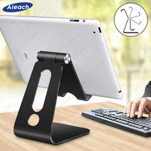 Aieach-Soporte de escritorio para tableta, rotación de aluminio, seguro, para iPad de 9,7 10,2, 10,5 y 11 pulgadas, Samsung Xiaomi