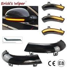Erick es Limpiaparabrisas 2 uds ahumado dinámica luz LED de intermitente espejo indicador lateral lámpara para VW Golf 5 Jetta MK5 Passat B5