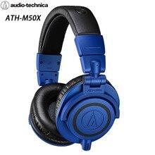 Audio Technica Ijzeren Driehoek ATH M50x Rd Hoofd Gemonteerde Monitor M50XRD Blauw Limited Edition