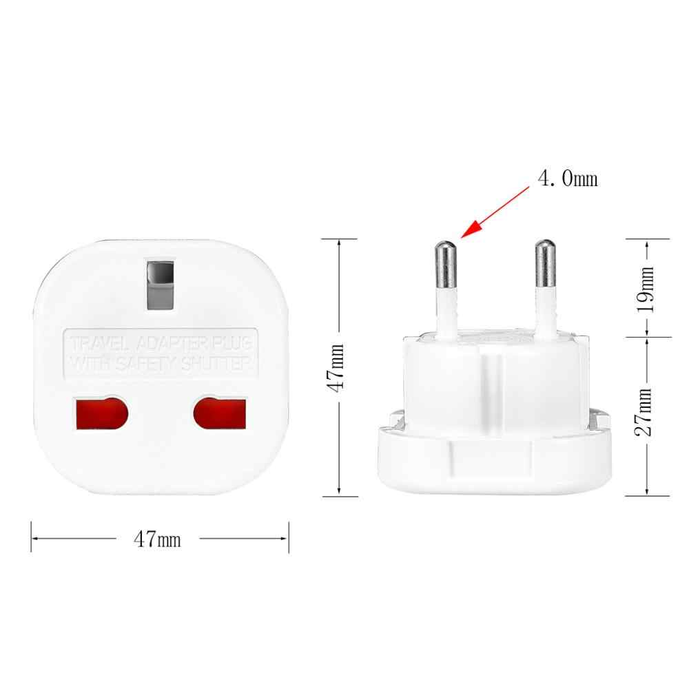 1pc wielkiej brytanii, aby Adapter wtyczki eu 220V Euro podróży konwerter wtyczki AC ładowarka ścienna zasilacz wielkiej brytanii brytyjski Adapter gniazdka elektryczne