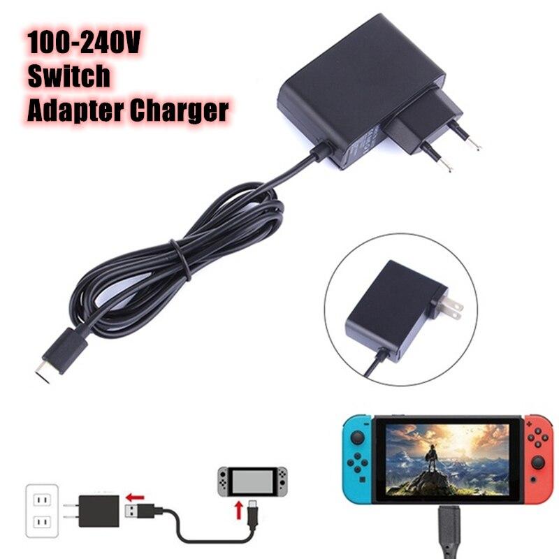 110-240 В адаптер переменного тока Зарядное устройство 5V 2.4A путешествия Зарядное устройство для Nintendo Switch ЕС/штепсельная вилка американского с...