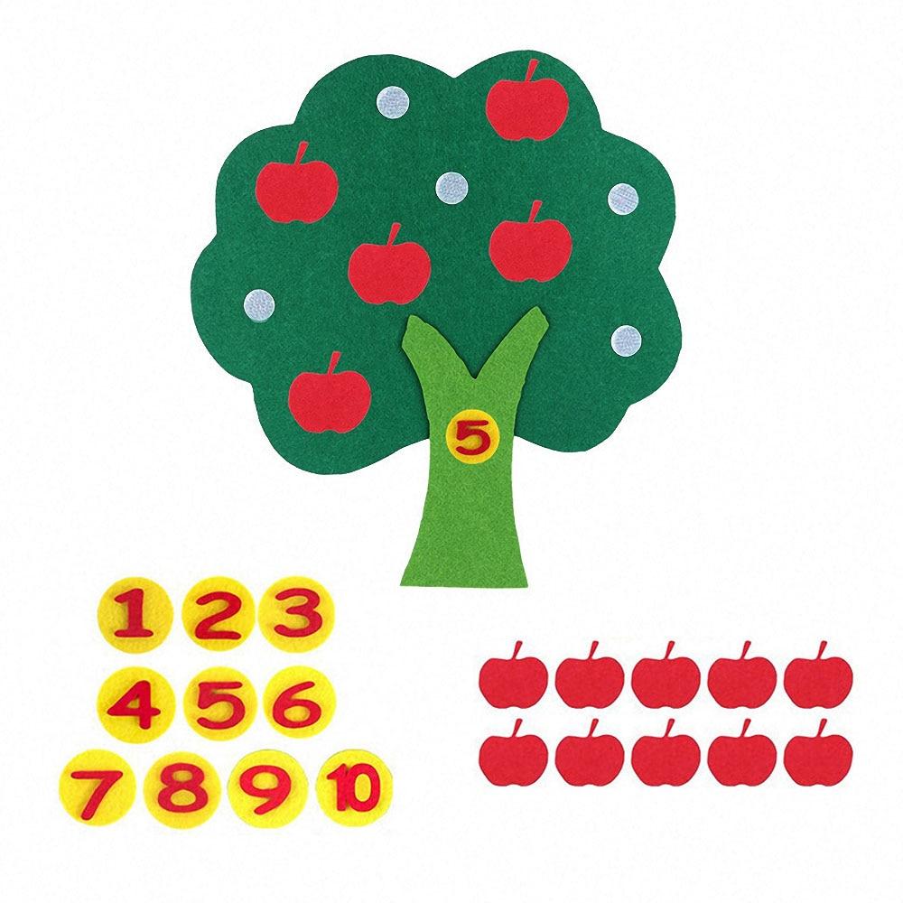 Enfants Montessori jouets éducatifs bricolage tissage tissu pommier maths jouets jouets d'apprentissage pour enfants préscolaire sensoriel aides pédagogiques