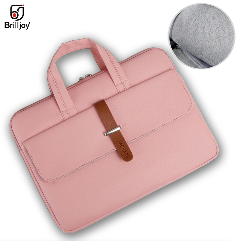 Fashion Briefcase Pu Waterproof Scratch-resistant Laptop Briefcase 13 -15.6 Inch Notebook Shoulder Bag Carry Case Women And Men