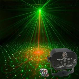 Диджейский дискотечный светильник, светодиодный лазерный проектор, вечерние светильник, эффект Аудио, Dj клубный бар, KTV семейный 60 моделей, ...