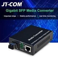 1Gb SFP Fiber to RJ45 Fiber Optic Media Converter 1000Mbps SFP Fiber Switch with SFP Module Compatible Cisco/Mikrotik/Huawei