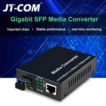 1Gb SFP Fiber to RJ45 Fiber Optic Media Converter 1000Mbps SFP Fiber Switch with SFP Module Compatible Cisco/Mikrotik/Huawei маршрутизатор mikrotik ccr1036 8g 2s 8x10 100 1000mbps 2xsfp 1xmicrousb