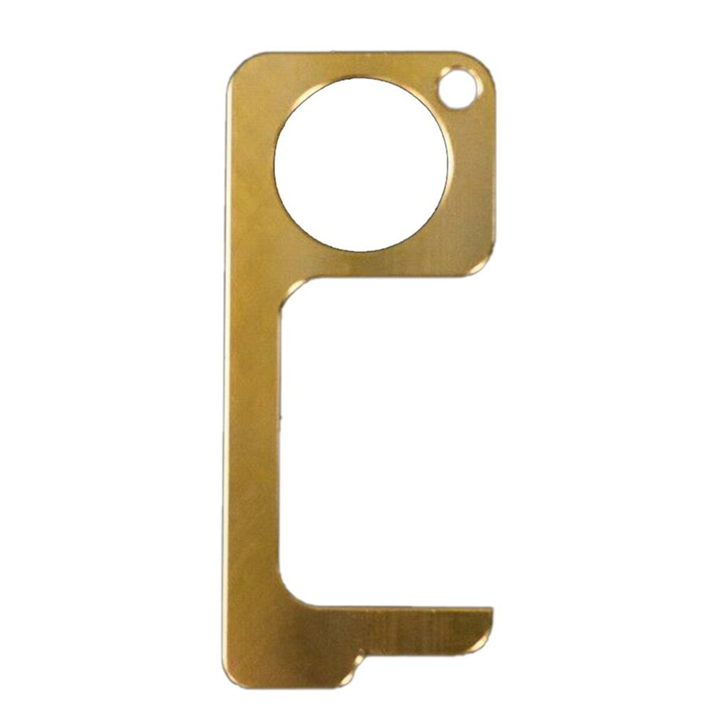 Anti-contact Isolation Key Brass Door Opener Zinc Alloy Antibacterial Copper Avoid Secondary Transmission