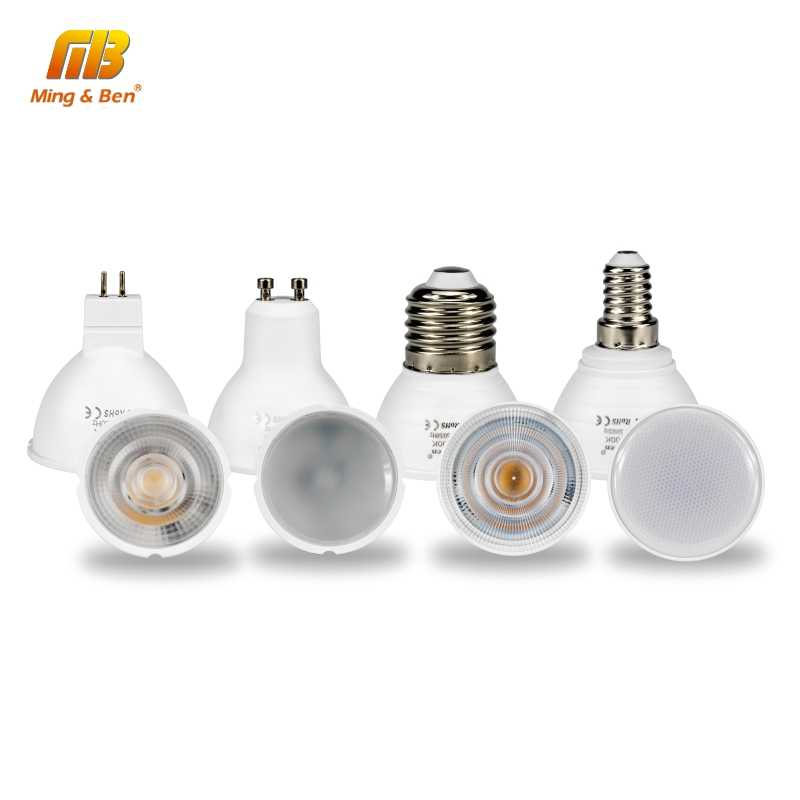 6PCS LED Lamp GU10 LED Bulbs E27 E14 24 120Degre MR16 220V Energy Saving LED Lights Bulb For Home Lighting Spotlight Lampara