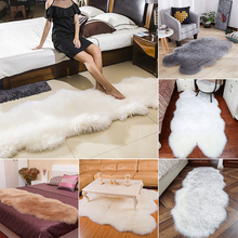 Soft Sheepskin Carpet Rugs For Home Bedroom Living Room Warm Carpets Floor Mat Pad Skin Fur Rugs Floor Mats Faux Fur Carpets learning carpets us map carpet lc 201