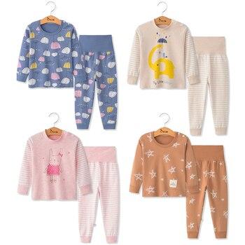 بيجامات أطفال 2 قطعة طويلة الأكمام الكرتون الاطفال ملابس خاصة طفلة ملابس النوم الدعاوى الخريف القطن الطفل بيجامة الصبي ملابس النوم