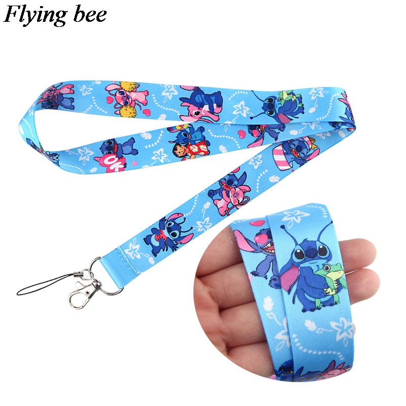 Flyingbee Cartoon Anime Lanyard Phone Rope Keychains Phone Lanyard For Keys ID Card Cartoon Lanyards For Men Women X0800