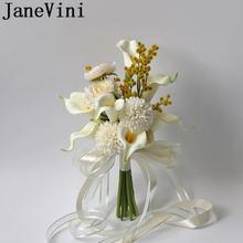 Искусственный цветок цвета слоновой кости jaevini корейский