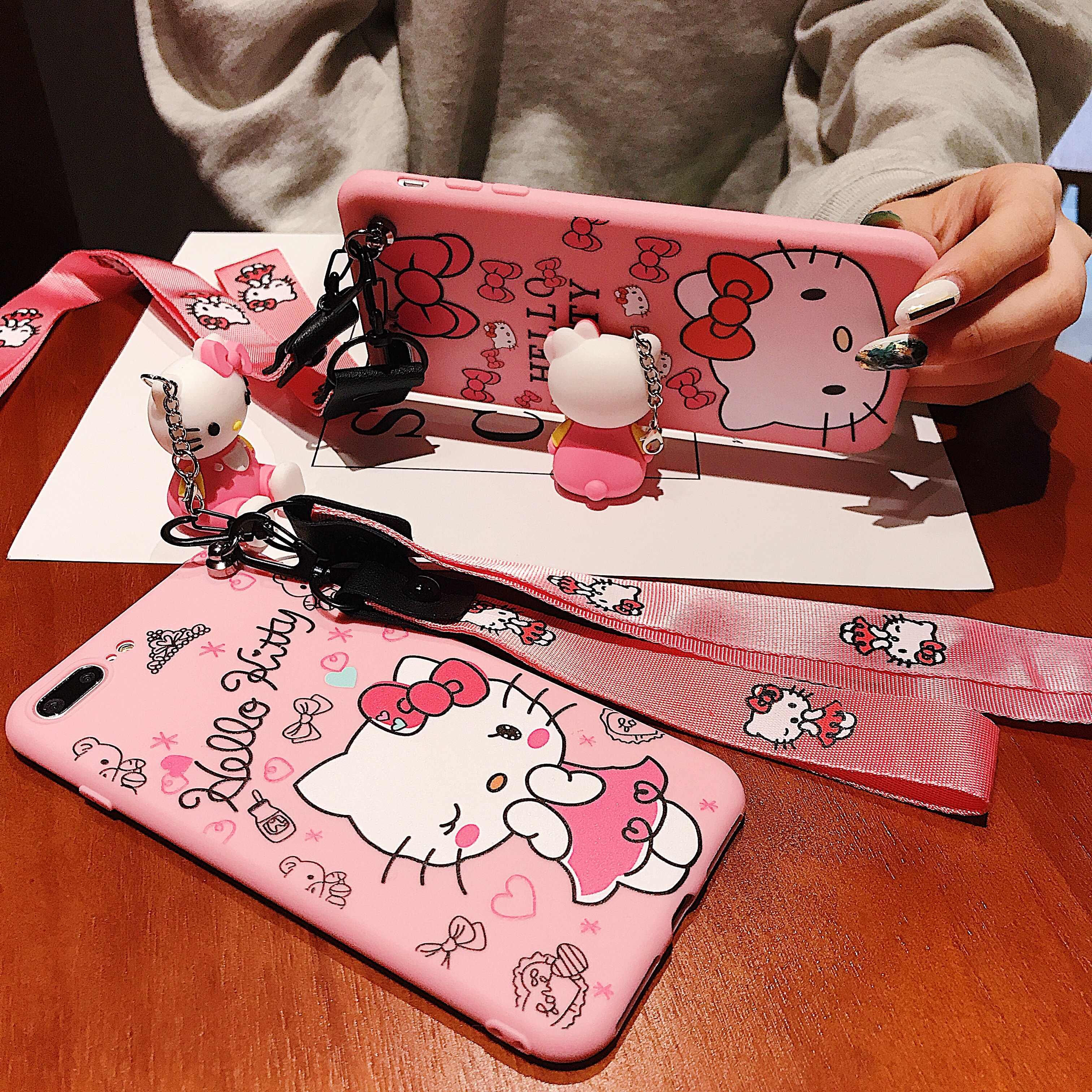 Nota 8 Pro suave silicona de Hello Kitty correa de teléfono soporte para Xiaomi A3 A2 8 9 Se Lite 9T Pro Redmi 5 Plus 67A Nota 4X6 7