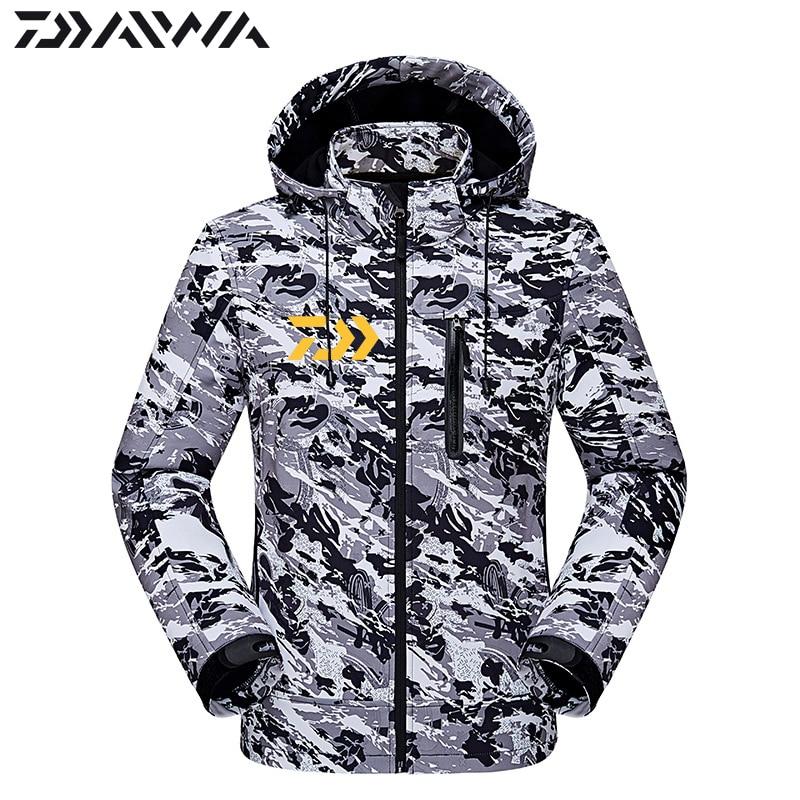 Daiwa Fishing Clothes Autumn Winter Keep Warm Waterproof Jacket Outdoors Thicken Breathable Coat Fishing Windbreaker