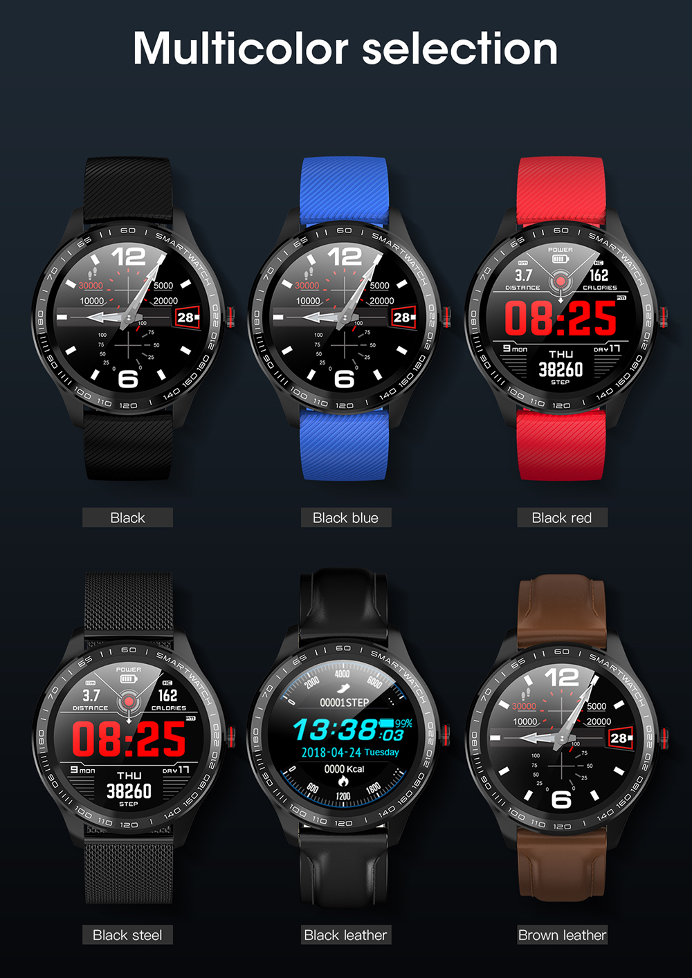 Hef4c1c1e6e9d4f5e8ed1793ba07e52430 696 L9 Full touch Smart Watch Men ECG+PPG Heart Rate Blood Pressure oxygen Monitor IP68 Waterproof Bluetooth Smart Bracelet