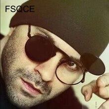 Gafas de sol para hombre, nueva moda VINTAGE, gafas de sol redondas de STEAMPUNK con tapa, diseño Punk, gafas de sol Retro