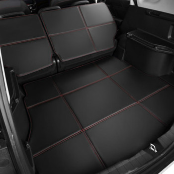 Waterproof Boot +Back Seat Carpets Durable Custom Special Car Trunk Mats for Ford Focus Mondeo Kuga Edge Ecosport Fiesta S-MAX