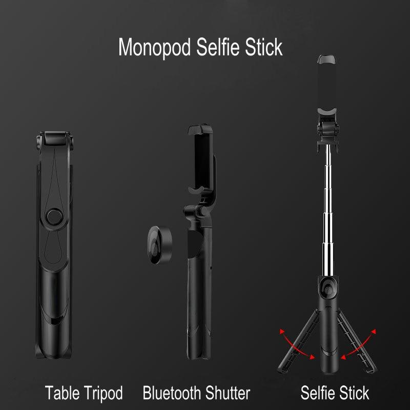3 In 1 Selfie Stok Telefoon Statief Uitschuifbare Monopod Met Bluetooth Afstandsbediening Voor Smartphone Selfie Stok 4